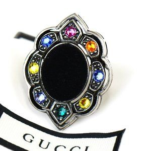 GUCCI MARMONT Bijou Ring Silver Plated Italy #6.5